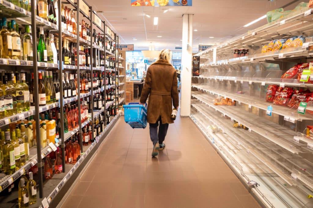 I supermercati vuoti causa Coronavirus