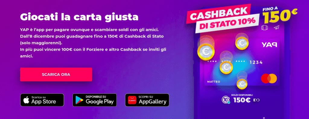 Codice YAP: Come ricevere 150€ in modo facile! 1